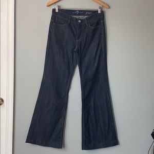 7 for all mankind Ginger Blue Denim Boot Cut Jeans